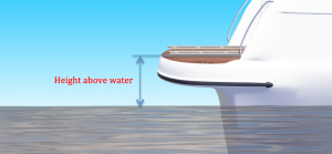 Height from water surface